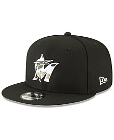 New Era Miami Marlins Camo Trim 9FIFTY Cap