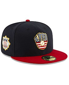 New Era Boys' Milwaukee Brewers Stars and Stripes 59FIFTY Cap
