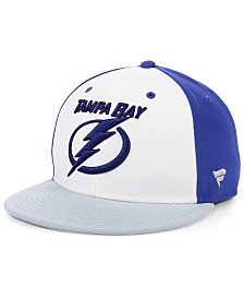 Authentic NHL Headwear Tampa Bay Lightning Tri-Color Throwback Snapback Cap