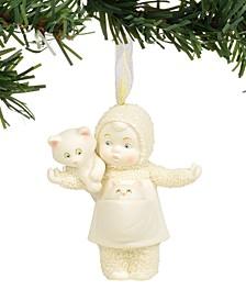 Snowbabies Cat Lady Ornament