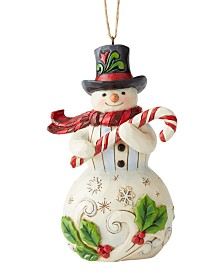 Jim Shore Snowman with Candy Cane Ornament