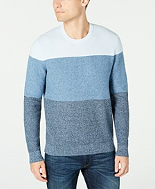 Men's Striped Crewneck Sweater, Created For Macy's