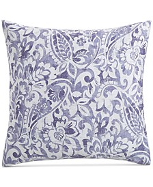CLOSEOUT! Textured Paisley Cotton 300-Thread Count European Sham, Created for Macy's