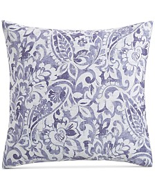 Charter Club Damask Designs Textured Paisley Cotton 300-Thread Count European Sham, Created for Macy's