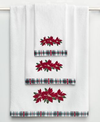 Poinsettia Hand Towel, Created for Macy's
