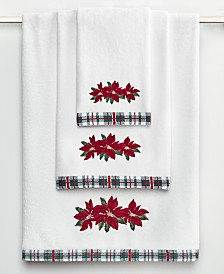 Martha Stewart Collection Poinsettia Bath Towel Collection, Created for Macy's