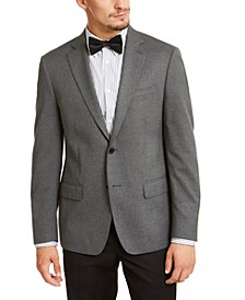 Men's Slim-Fit Stretch Solid Textured Sport Coat