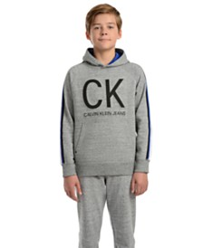 Calvin Klein Jeans Big Boys Athlete Taped Embossed Logo Hoodie