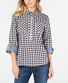 Tommy Hilfiger Cotton Checked Zip Shirt