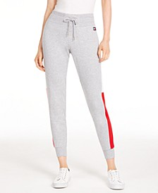 Varsity Side-Panel Jogger Sweatpants
