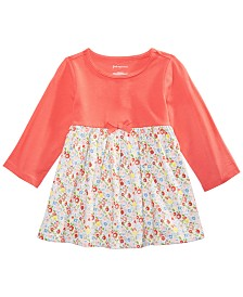 First Impressions Baby Girls Ditsy Floral-Print Cotton Tunic, Created for Macy's