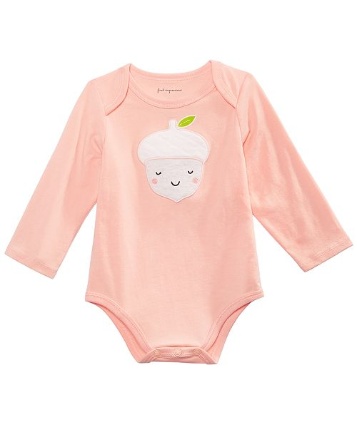 First Impressions Baby Girls Acorn Bodysuit, Created for Macy's