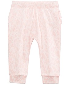 Baby Girls Cotton Ruffled Jogger Pants, Created for Macy's