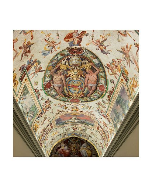 "Trademark Global Philippe Hugonnard Dolce Vita Rome 3 Hall of Mirrors VI Canvas Art - 19.5"" x 26"""