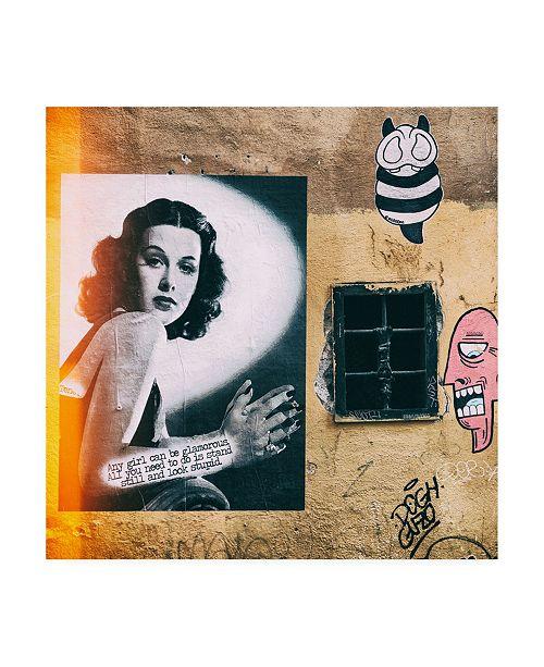 "Trademark Global Philippe Hugonnard Dolce Vita Rome 3 Street Art IV Canvas Art - 15.5"" x 21"""