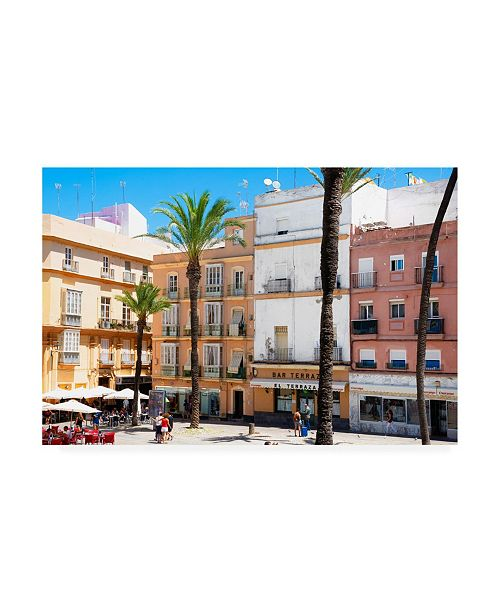 "Trademark Global Philippe Hugonnard Made in Spain Cadiz Architecture Canvas Art - 15.5"" x 21"""