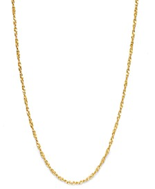 "18K  Gold over Sterling Silver Necklace, 30"" Diamond-Cut Singapore Chain"