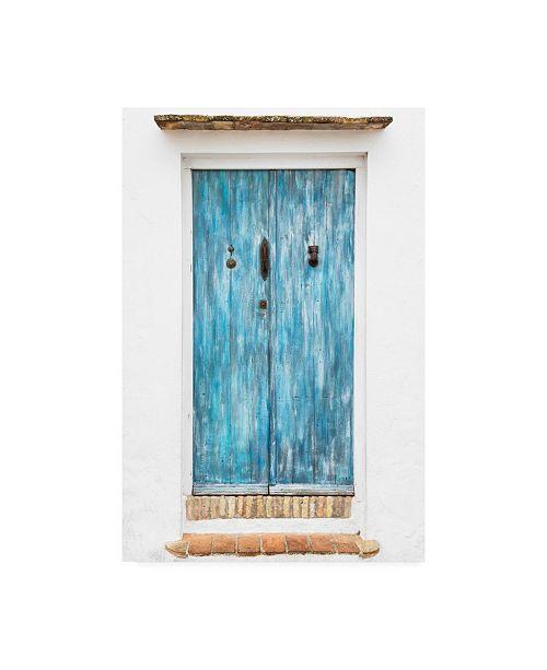 "Trademark Global Philippe Hugonnard Made in Spain Old Blue Door Canvas Art - 27"" x 33.5"""