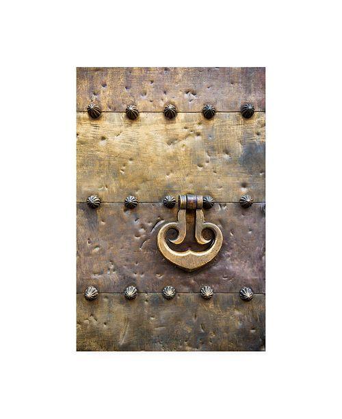 """Trademark Global Philippe Hugonnard Made in Spain Door Knocker on Copper Door of the Mezquita in Cordoba Canvas Art - 27"""" x 33.5"""""""