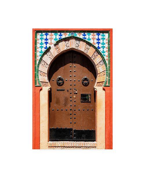"Trademark Global Philippe Hugonnard Made in Spain Arabic Door Canvas Art - 27"" x 33.5"""