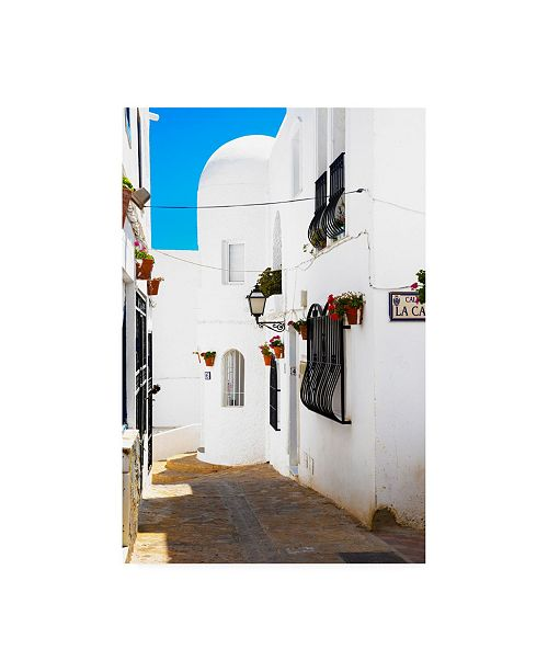 "Trademark Global Philippe Hugonnard Made in Spain Mijas White Architecture Canvas Art - 36.5"" x 48"""