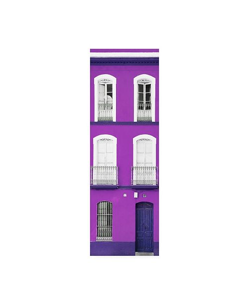 """Trademark Global Philippe Hugonnard Made in Spain 2 Purple Facade of Traditional Spanish Building Canvas Art - 15.5"""" x 21"""""""