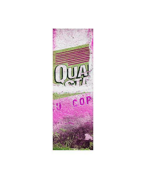 "Trademark Global Philippe Hugonnard Viva Mexico 2 Pink Grunge Wall Canvas Art - 36.5"" x 48"""