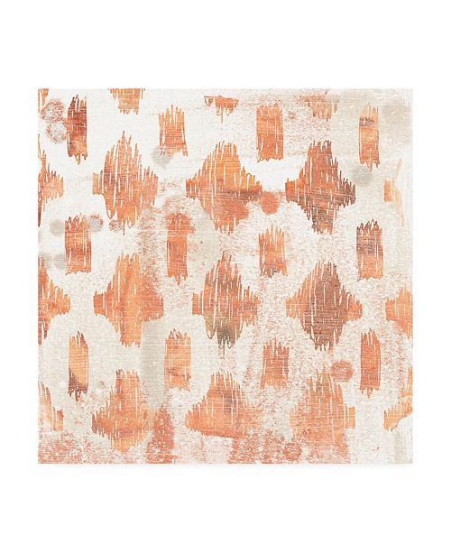 """Trademark Global June Erica Vess Red Earth Textile IV Canvas Art - 19.5"""" x 26"""""""