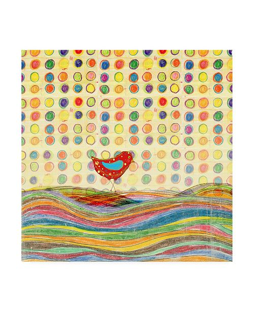 "Trademark Global Ingrid Blixt Feathers, Dots and Stripes VII Childrens Art Canvas Art - 19.5"" x 26"""