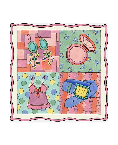 "Trademark Global Megan Meagher Shopping Spree IV Childrens Art Canvas Art - 15.5"" x 21"""