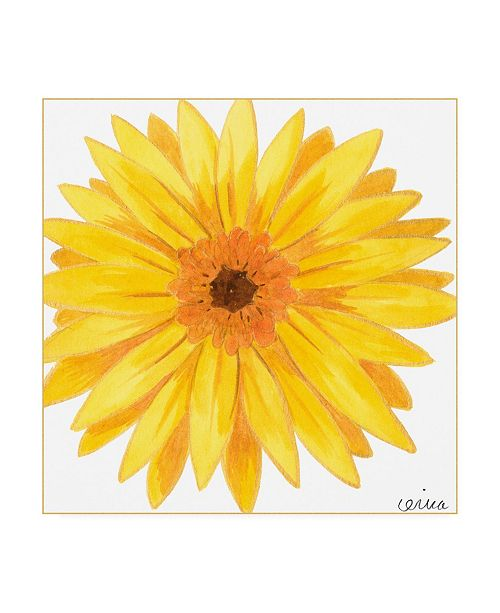 "Trademark Global June Erica Vess Bright Blossoms IV Childrens Art Canvas Art - 15.5"" x 21"""