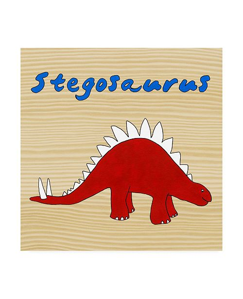 "Trademark Global Megan Meagher Stegosaurus Childrens Art Canvas Art - 36.5"" x 48"""