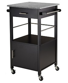Winsome Wood Davenport Kitchen Cart with Granite Top