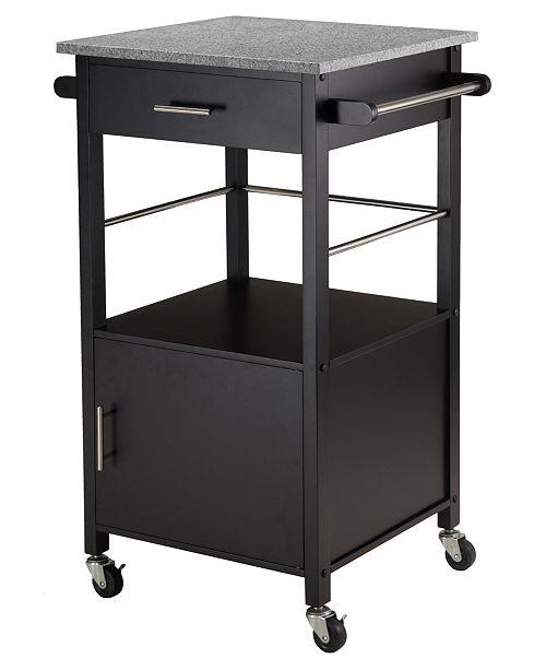 Davenport Kitchen Cart with Granite Top