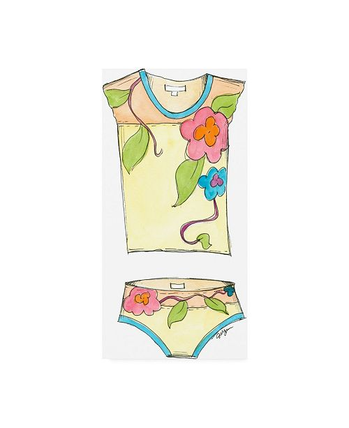 """Trademark Global Jennifer Goldberger Fun Wear IV Childrens Art Canvas Art - 27"""" x 33.5"""""""