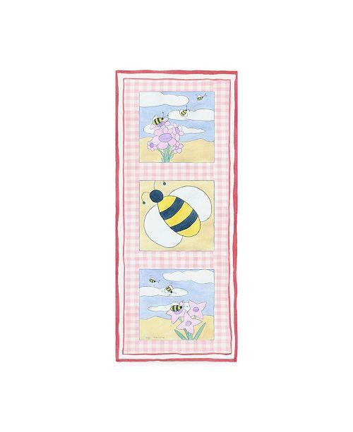 "Trademark Global Megan Meagher Bee Trio Childrens Art Canvas Art - 36.5"" x 48"""