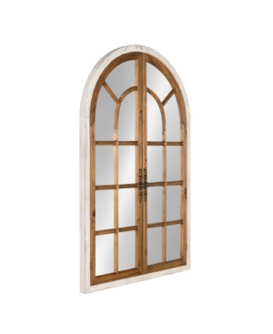 Kate and Laurel Boldmere Wood Windowpane Arch Mirror - 28
