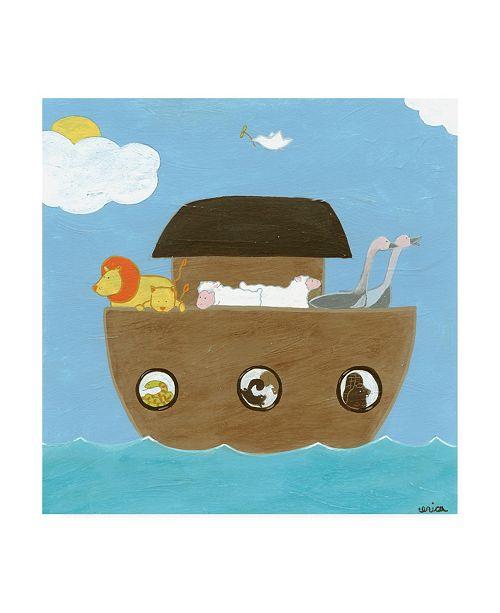 "Trademark Global June Erica Vess Noahs Ark II Canvas Art - 36.5"" x 48"""