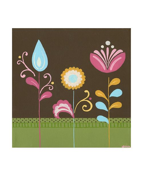 "Trademark Global June Erica Vess Patchwork Garden IV Canvas Art - 19.5"" x 26"""