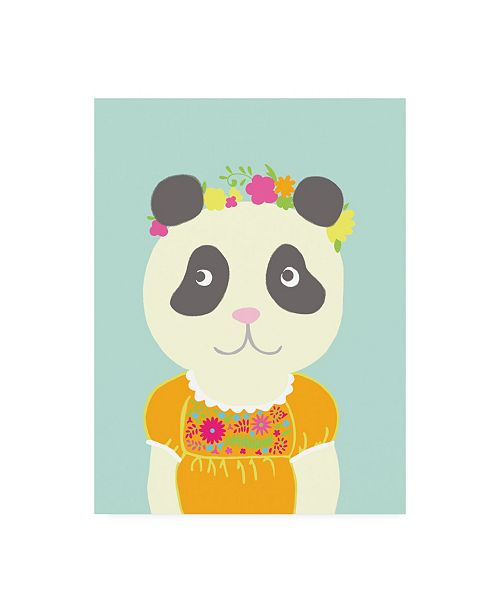 "Trademark Global Chariklia Zarris Fancy Animals IV Canvas Art - 27"" x 33.5"""