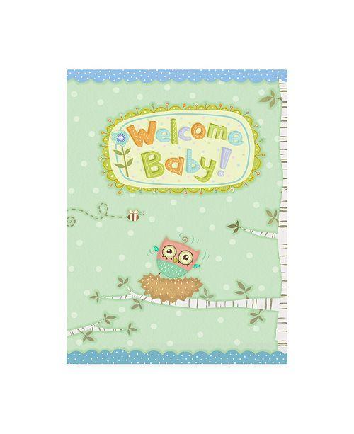 """Trademark Global Viv Eisner Baby Owl I Canvas Art - 15.5"""" x 21"""""""