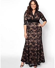 Women's Plus Size Screen Siren Lace Gown