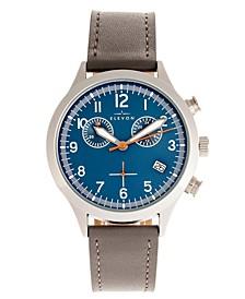 Men's Antoine Chronograph Genuine Leather Strap Watch 44mm