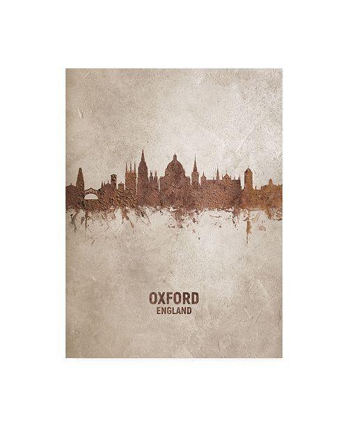 "Trademark Global Michael Tompsett Oxford England Rust Skyline Canvas Art - 36.5"" x 48"""