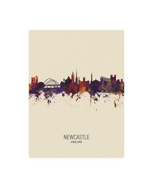 "Trademark Global Michael Tompsett Newcastle England Skyline Portrait III Canvas Art - 36.5"" x 48"""