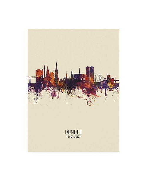 "Trademark Global Michael Tompsett Dundee Scotland Skyline Portrait III Canvas Art - 27"" x 33.5"""