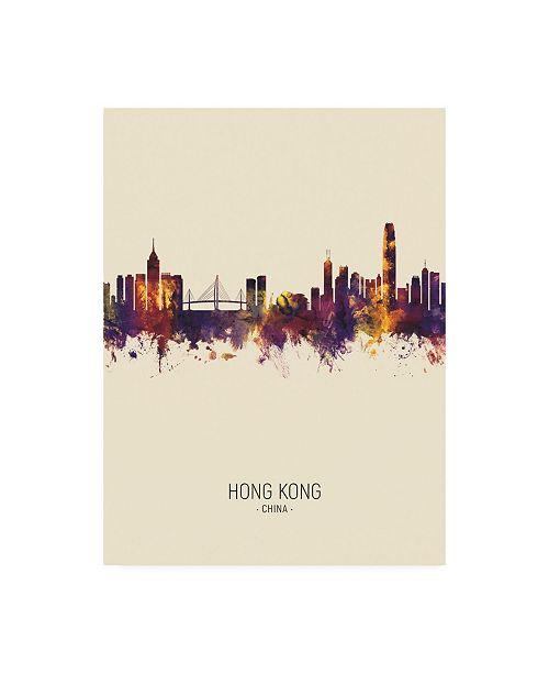"""Trademark Global Michael Tompsett Hong Kong Skyline Portrait III Canvas Art - 15.5"""" x 21"""""""