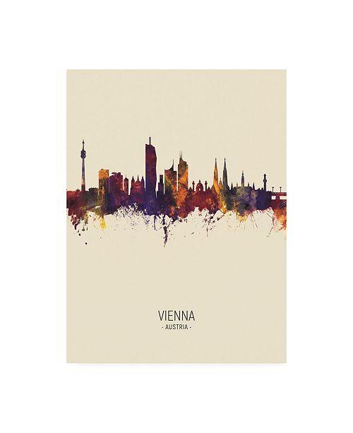 "Trademark Global Michael Tompsett Vienna Austria Skyline Portrait III Canvas Art - 27"" x 33.5"""