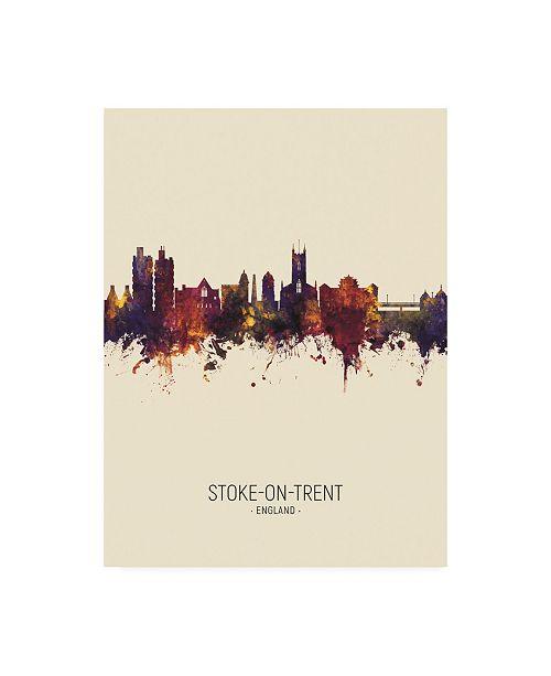 "Trademark Global Michael Tompsett Stoke-on-Trent England Skyline Portrait III Canvas Art - 27"" x 33.5"""