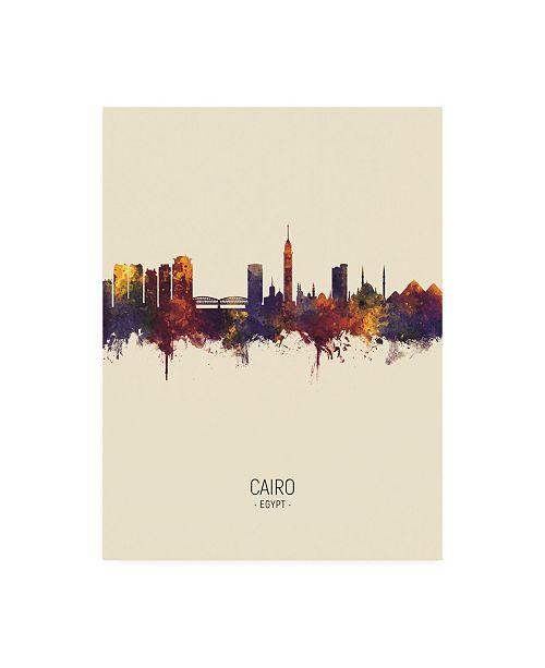 "Trademark Global Michael Tompsett Cairo Egypt Skyline Portrait III Canvas Art - 15.5"" x 21"""